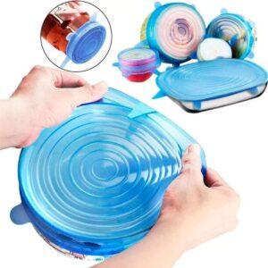 Tapas de silicona ajustable
